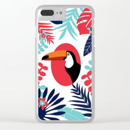 toucan and foliage Clear iPhone Case