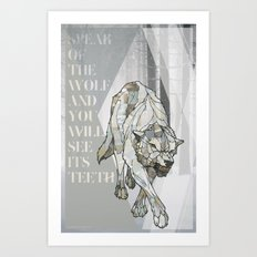 Speak of the Wolf Art Print