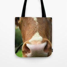 Cow, meadow, animal Tote Bag