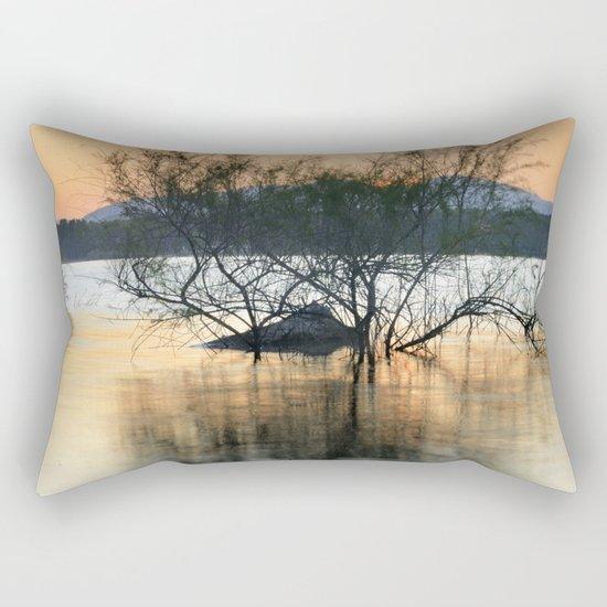 """Peace at the lake"". Dream sunset. Rectangular Pillow"