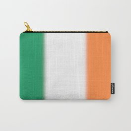 Green White and Orange Ombre Shaded Irish Flag Carry-All Pouch