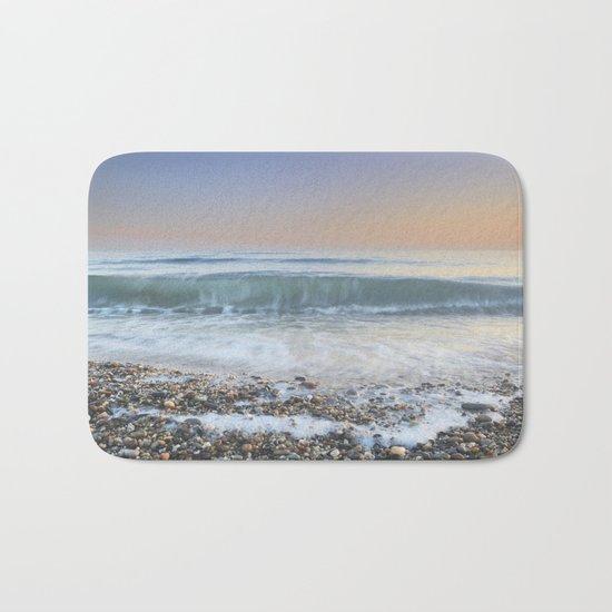 """""""Looking at the waves III"""" Sea dreams Bath Mat"""