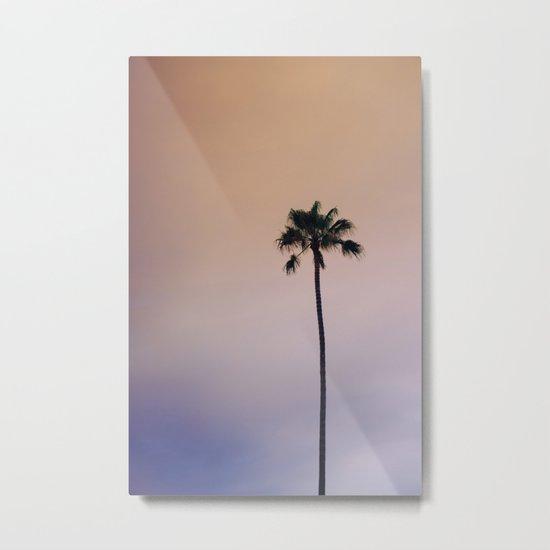 One Night One Palm Tree Metal Print