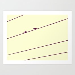 Two Birds on a Wire Art Print