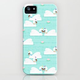 Serene Swans iPhone Case
