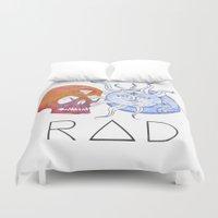 indie Duvet Covers featuring RAD Indie Skull/Sun/Moon by Pip & Fugu
