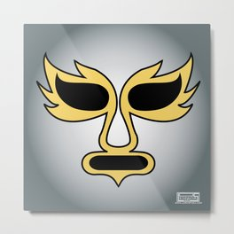 Mask of the Silver Angel Metal Print
