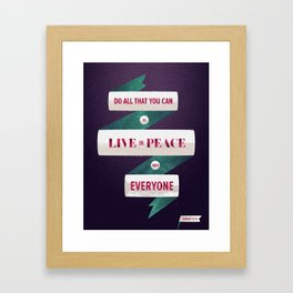 Romans 12:18 Framed Art Print