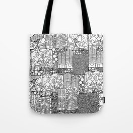 Doodle and the city Tote Bag