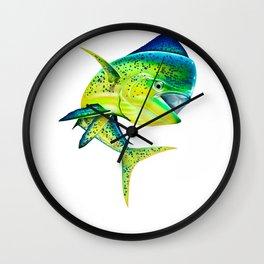 Mahi Time - Lit-Up Mahi Mahi, Dorado, Dolphin Wall Clock