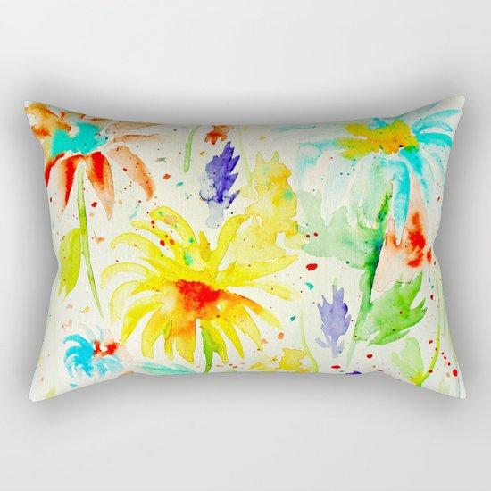 Abstract Flowers 01 Rectangular Pillow
