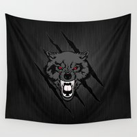 daenerys targaryen Wall Tapestries featuring WOLF and ClAW by alexa