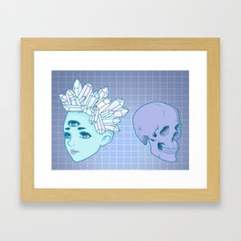 The Witch And The Skull Framed Art Print
