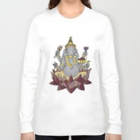 ganesh Long Sleeve T-shirts featuring Ganesh by Street But Elegant