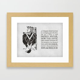 both as like as a duel of lentils Framed Art Print