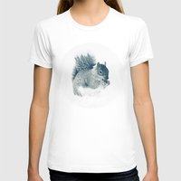 squirrel T-shirts featuring squirrel by Peg Essert