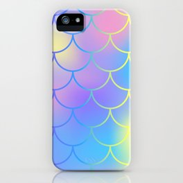 Turquoise Purple Mermaid iPhone Case