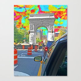 Painted Town Canvas Print