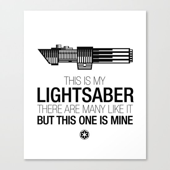 This is my Lightsaber (Vader Version) Canvas Print