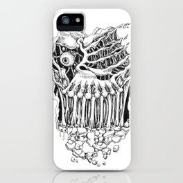 Hand Drawn Halloween Card - Looking At You iPhone Case