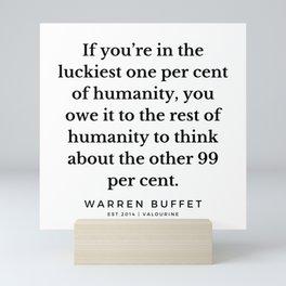 5     Warren Buffett Quotes   190823 Mini Art Print