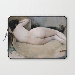 12,000pixel-500dpi - Ramon Casas - Nu Femeni - Digital Remastered Edition Laptop Sleeve