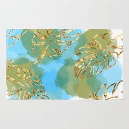 leaf & water scene Rug