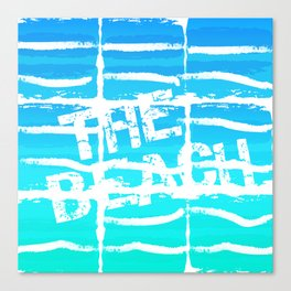 The Beach Aqua Canvas Print