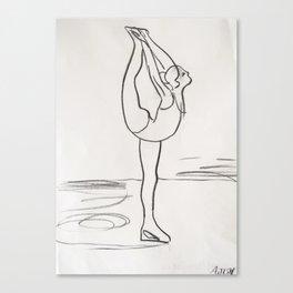 Figure Skater Canvas Print
