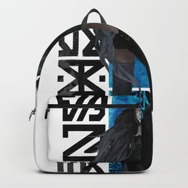 Cyberpunk Warrior Girl Cyborg Pattern Ornament  Backpack