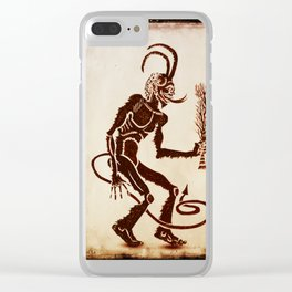 Krampus Is Coming Clear iPhone Case