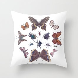 Mosaic of Bugs Throw Pillow