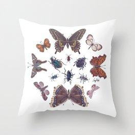 Mosaic of Bugs Throw Pillow