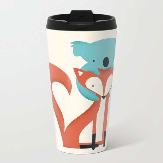Fox & Koala Metal Travel Mug