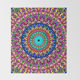 Magic Life Garden Mandala Throw Blanket