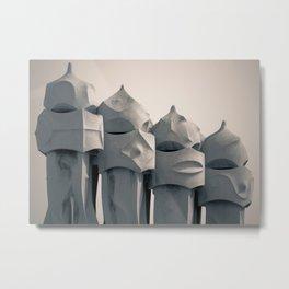 Gaudi's Chimneys Metal Print