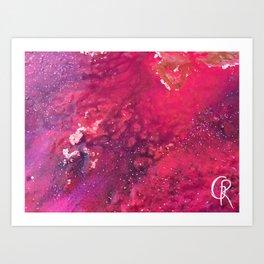 Rainbow Bay Abstract Painting Mixed Media Art Print