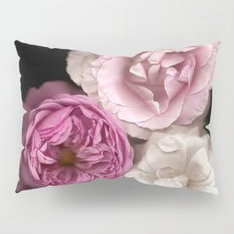 Purple, Pink, and White Roses Pillow Sham