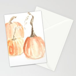 Twisted Stem Pumpkins in Watercolor Stationery Cards