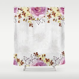 Roses and Gerberas Shower Curtain