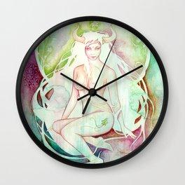 Goddess of Taurus - An Earth Element Wall Clock