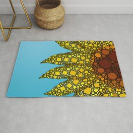 Sunflower in Abstract Form - Flower field - Autumn and summer collide - 57 Montgomery Ave Rug