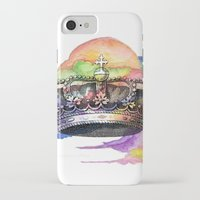 crown iPhone & iPod Cases featuring CROWN by Chejo Hernandez