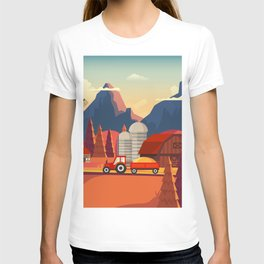 Rural Farmland Countryside Landscape Illustration T-shirt