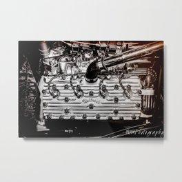 Hot Rod Flathead Edelbrock Engine Metal Print