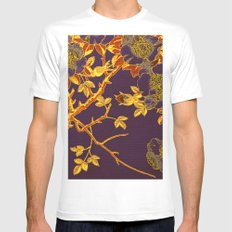 rich floral on purple Mens Fitted Tee White MEDIUM