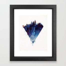 Near to the edge Framed Art Print