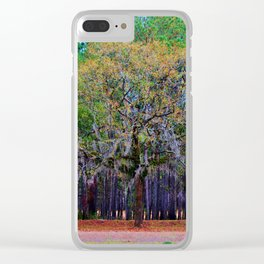 Pine Tree Landscape Clear iPhone Case
