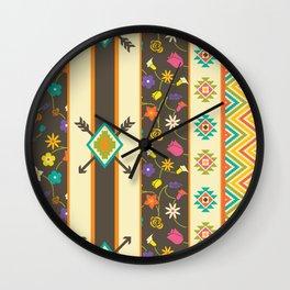 Aztec Pattern 3 Wall Clock