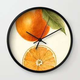 Vintage Painting of an Orange Wall Clock